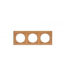 Perła Ramka drewniana potrójna do serii Perła RA-3PN BUK Abex 9000338