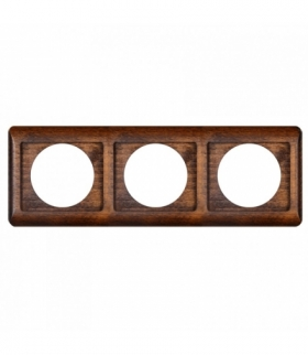 Perła Ramka drewniana potrójna do serii Perła RA-3PN TEAK Abex 9000339