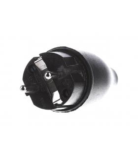 Merten Wtyczka gumowana schuko, ip44, czarna