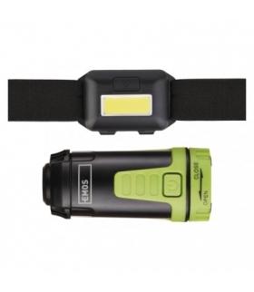 Zestaw: Latarka czołowa LED COB + Mini lampa kempingowa LED EMOS P4007