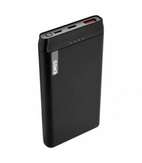 Powerbank EMOS ALPHAQ 10000mAh czarny microUSB + USB C, slim EMOS B0524B