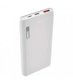 Powerbank EMOS ALPHAQ 10000 mAh biały microUSB + USB C, slim EMOS B0524W