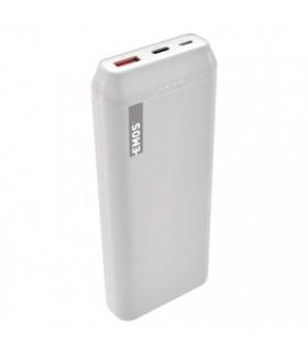 Powerbank EMOS ALPHAQ 20000 mAh biały, micro USB + USB C EMOS B0525W