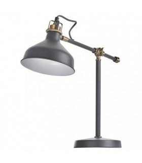 Lampa biurkowa E27 HARRY 56 cm ciemno szary EMOS Z7611