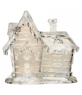 Dekoracje- 3 LED akrylowy domek 16x15 cm, 3x AAA ciepła biel EMOS ZY2319