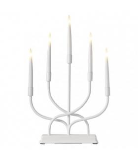 Dekoracje - świecznik 5 LED 2x AA metal IP20 WW, timer EMOS ZY2336