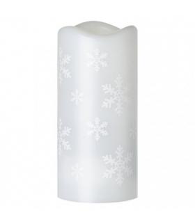 Projektor LED śnieżynki , 3x AAA / USB, zimna biel IP20 EMOS ZY2310