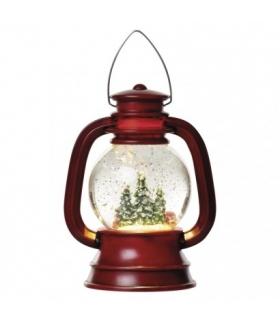 Lampion śnieżny 1 LED 11x20cm, 3x AA, ciepła biel EMOS ZY2326