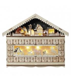Dekoracje- 10 LED kalendarz adwent 50x40 cm, 2x AA WW, timer EMOS ZY2315