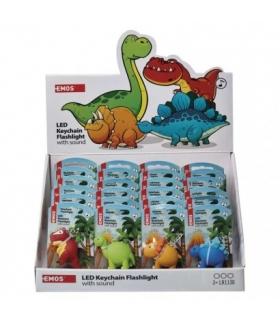 Brelok LED dinozaury 3× LR54 box 24 EMOS P4711