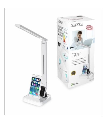 Wielofunkcyjna lampka biurkowa ze stacją dokującą do iPhone i iPod