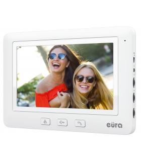 MONITOR EURA VDA-45A3 EURA CONNECT – biały, ekran 7'', obsługa 1 wejścia