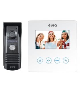 WIDEODOMOFON EURA VDP-52A3 ATIRA - biały, ekran 4,3, obsługa 2 wejść