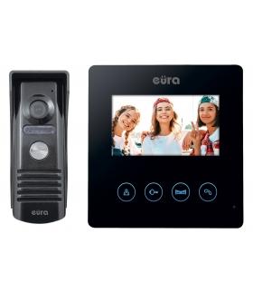 WIDEODOMOFON EURA VDP-52A3 ATIRA - czarny, ekran 4,3, obsługa 2 wejść
