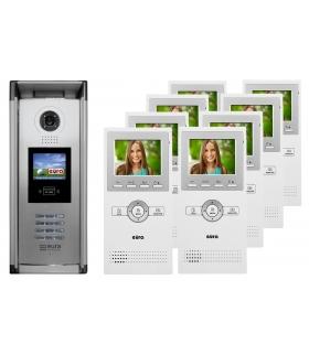 WIDEODOMOFON EURA VDP-A5A5 CAT5 - ośmiorodzinny, LCD 3,5, kaseta z wyświetlaczem LCD i czytnikiem RFID