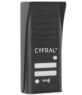 PANEL ANALOGOWY CYFRAL 2-lokatorski COSMO czarny
