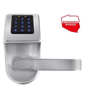 SZYLD Z KONTROLĄ DOSTĘPU EURA ELH-80B9 SILVER z klawiaturą dotykową, sterowaniem SMS, czytnikiem Mifare, modułem Bluetooth i uni