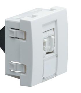 systo Gniazdo telefoniczne RJ11/RJ12 2M biały Hager WS201