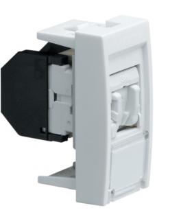 systo Gniazdo informatyczne z polem opisowym 1x RJ45 kat. 5e STP 1M biały Hager WS216
