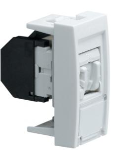 systo Gniazdo informatyczne z polem opisowym 1x RJ45 kat. 6 STP 1M biały Hager WS225