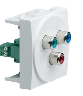 systo Gniazdo video YUV RGB czerwony/zielony/niebieski 2M biały Hager WS262