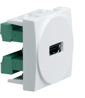 systo Gniazdo HDMI zaciski śrubowe 2M biały Hager WS264