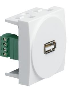systo Gniazdo USB 2M biały Hager WS265