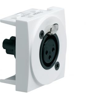 systo Gniazdo audio XLR żeńskie zaciski śrubowe 2M biały Hager WS266