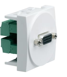 systo Gniazdo video SUB-D 15 VGA zaciski śrubowe 2M biały Hager WS276