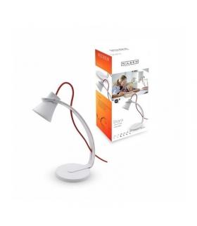 SKARA lampka biurkowa LED 3,2W biała z czerwonym sznurem