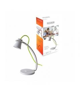 SKARA lampka biurkowa LED 3,2W biała z zielonym sznurem