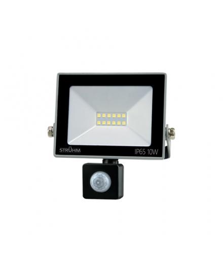 Naświetlacz SMD LED z czujnikiem ruchu KROMA LED S 10W GREY 4500K IDEUS 03772