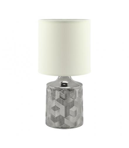 Lampka stołowa LINDA E14 CHROME/WHITE IDEUS 03785