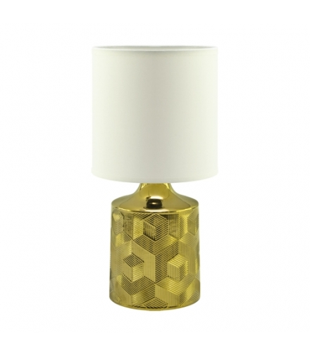 Lampka stołowa LINDA E14 GOLD/WHITE IDEUS 03786