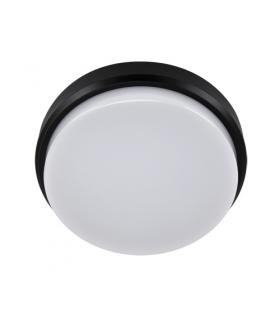 Plafoniera hermetyczna LED ARON LED C 12W BLACK 4000K IDEUS 03800