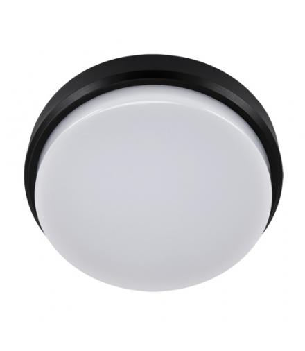 Plafoniera hermetyczna LED ARON LED C 18W BLACK 4000K IDEUS 03801