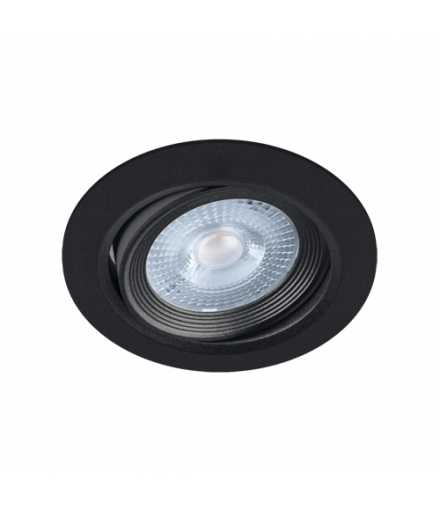 Sufitowa oprawa punktowa SMD LED MONI LED C 5W 4000K BLACK IDEUS 03859