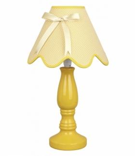 LOLA LAMPKA GABINETOWA 1X40W E14 ŻÓŁTA Candellux 41-04680