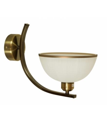 LAMPA MANDARIN KINKIET 1X60W E27 KLOSZ Z PASKIEM CIEMNA PATYNA Candellux 21-47557