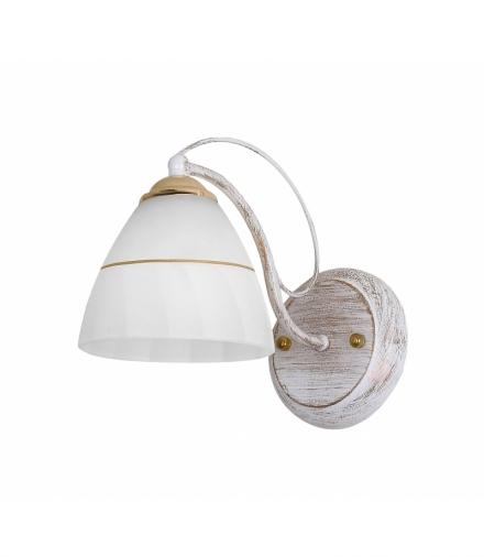 LAMPA FANETTA KINKIET 1X60W E27 BIAŁO ZŁOTY Candellux 21-77042