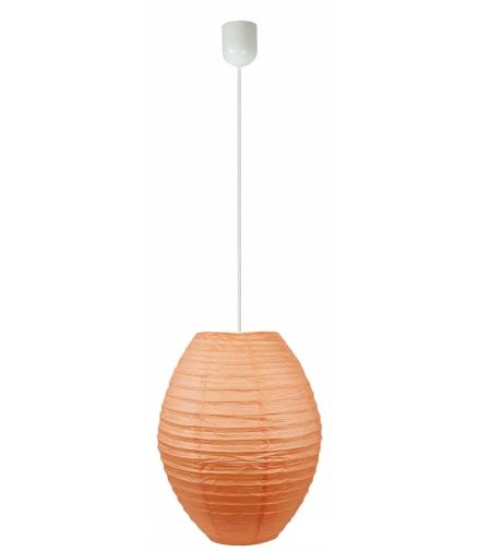 LAMPA KOKON W SZTAŁCIE ULA PAPIEROWY POMARAŃCZ 40X55CM/LINKA Candellux 31-05670
