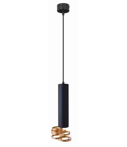 LAMPA WISZĄCA TUBA 1X25W GU10 7/30 ZŁOTY+CZARNY Candellux 31-77899