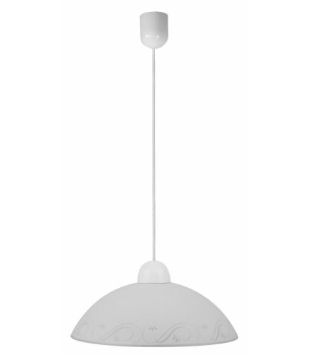 LAMPA WISZĄCA LANCER 1X60W E27 KLOSZ BIAŁY Candellux 31-78414