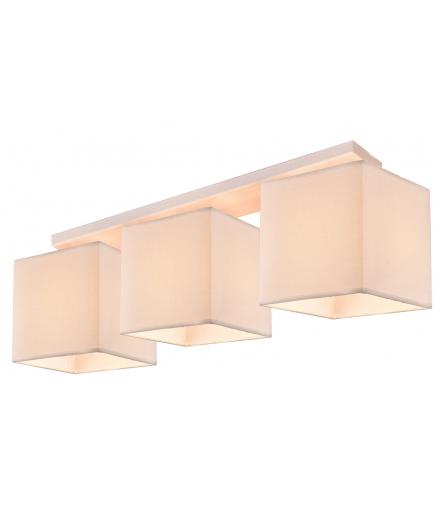LAMPA BOHO AMPLA 3X40W E27 BIAŁY ABAŻUR BEŻOWY Candellux 33-58393