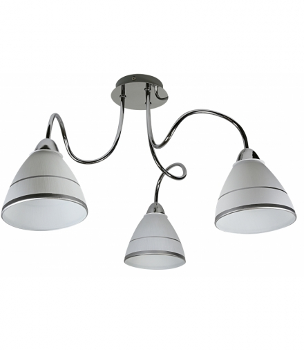 ELF LAMPA SUFITOWA 3X40W E14 CHROM Candellux 33-72580