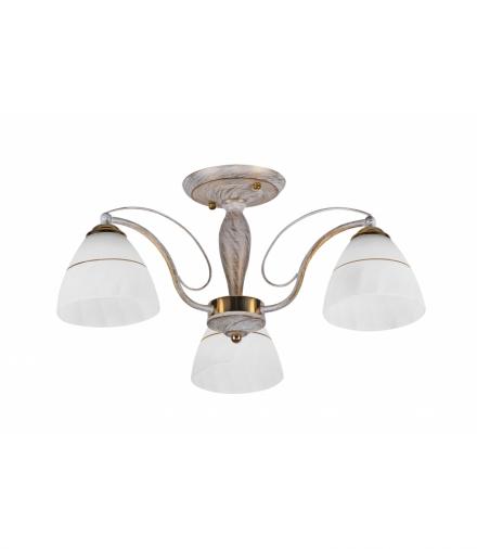 LAMPA SUFITOWA FANETTA 3X60W E27 BIAŁO ZŁOTY Candellux 33-78056