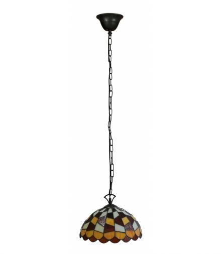 LAMPA WISZĄCA TIFFANY COLOR BRĄZ E27 60W Candellux 3479011-24