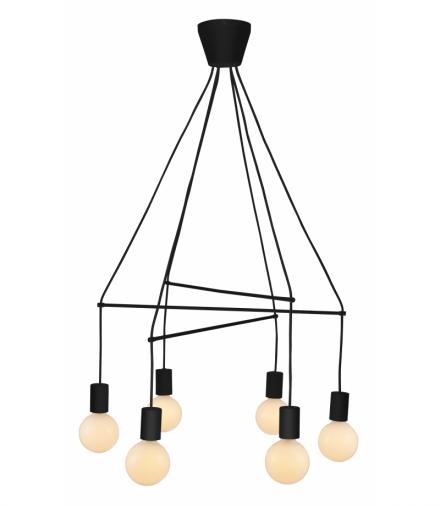 ALTO LAMPA WISZĄCA 6X40W E27 CZARNY MATOWY Candellux 36-70937