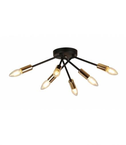 LAMPA SUFITOWA TIARA 6X40W E14 CZARNY Candellux 36-79718