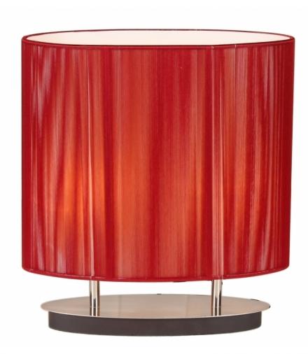 LAMPKA ARTEMIS 2X60W E27 CZERWONA Candellux 41-10165